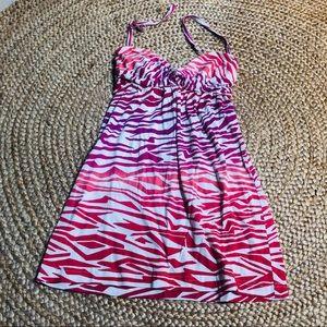 Volcom dress XS/Small ombré zebra print